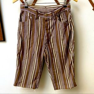 Lee • Vintage Striped Cut Off Shorts